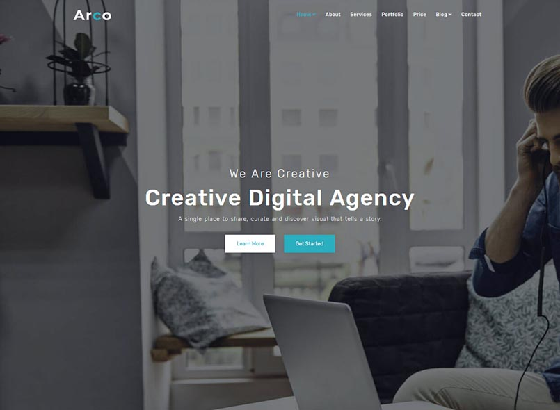 Arco - One Page Parallax Joomla Themes
