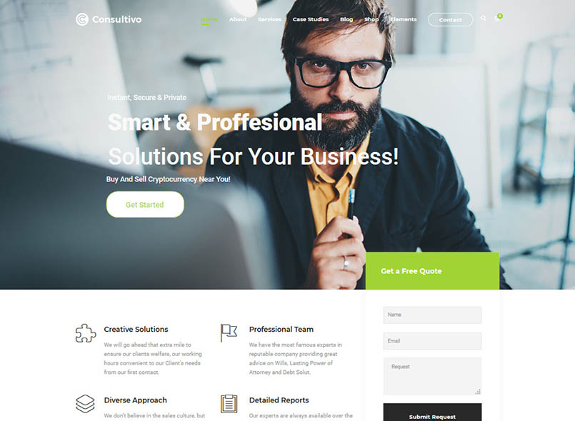 Consultivo - Business and Investments Drupal 8.7 Theme