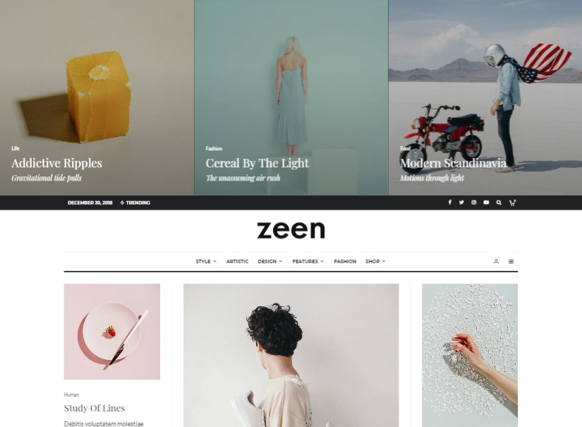 Zeen - latest wordpress blog theme