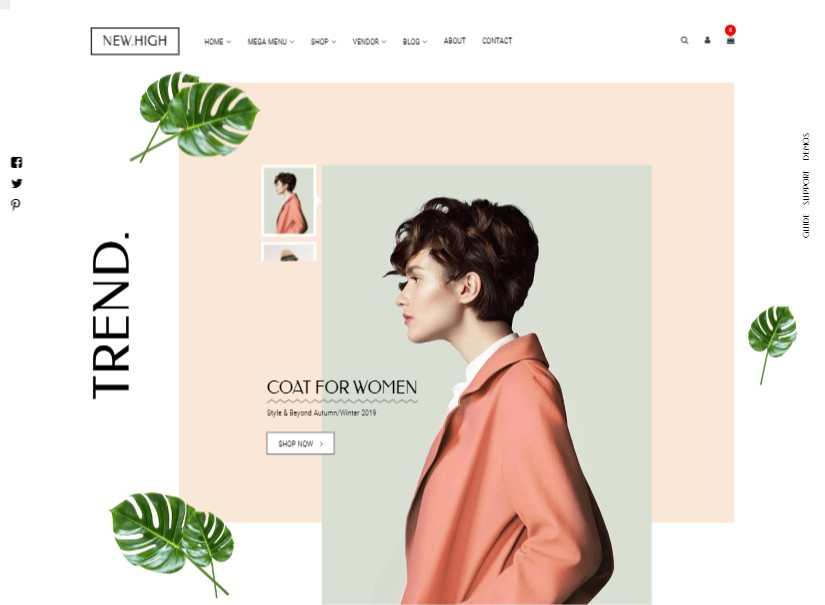 New High - latest fashion website template