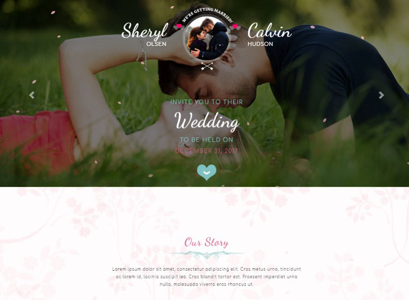 Butterfly - best wedding website templates