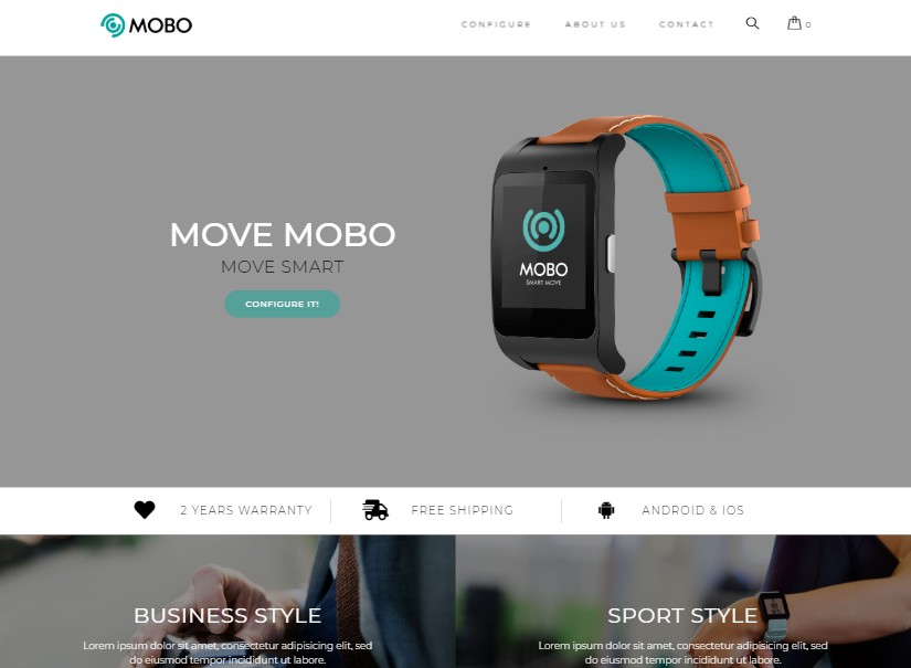 Smartwatch - latest ecommerce templates