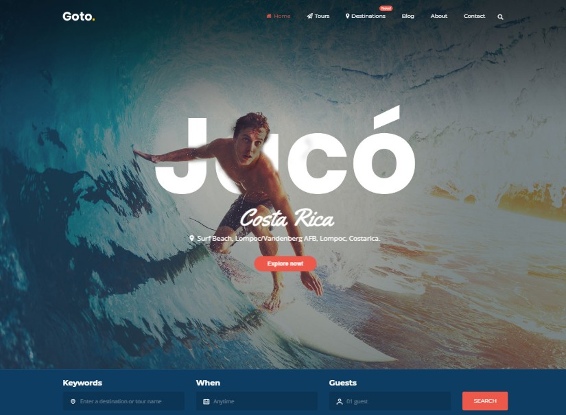 Goto - best tour and travel website templates