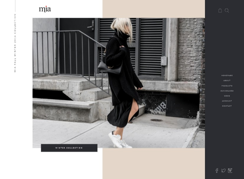 Mia - best fashion website template