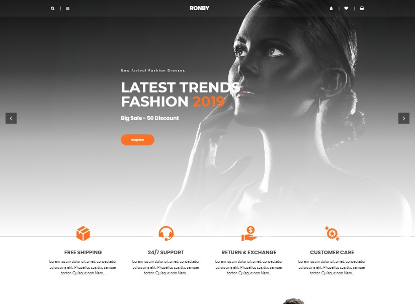 Ronby Trends - best html website templates