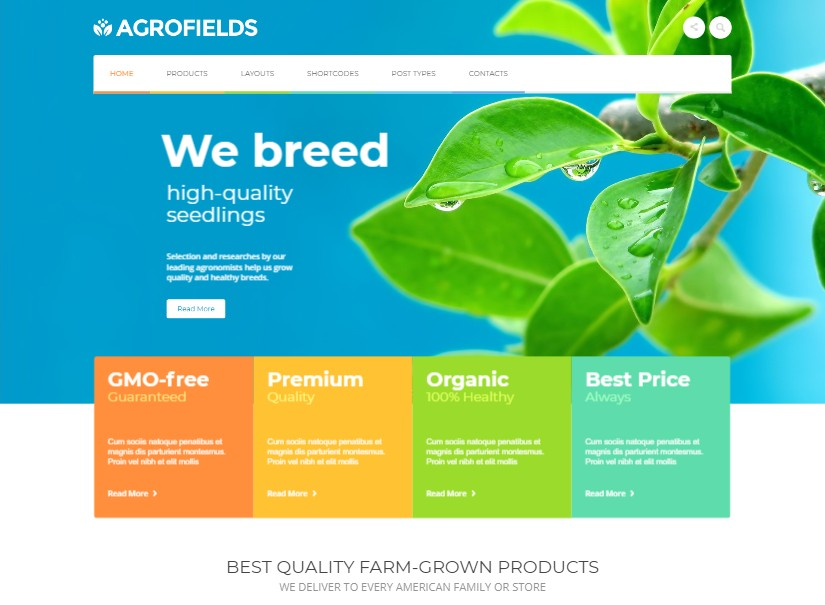 Agrofields - best agriculture website theme