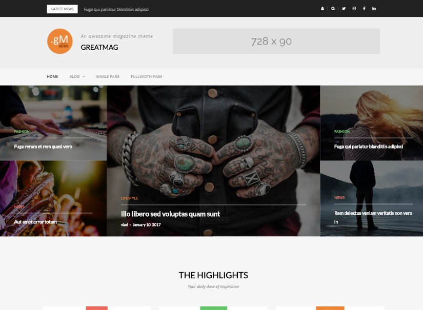 Greatmag - free wordpress themes
