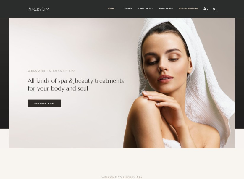 Luxury Spa - beauty and spa website templates