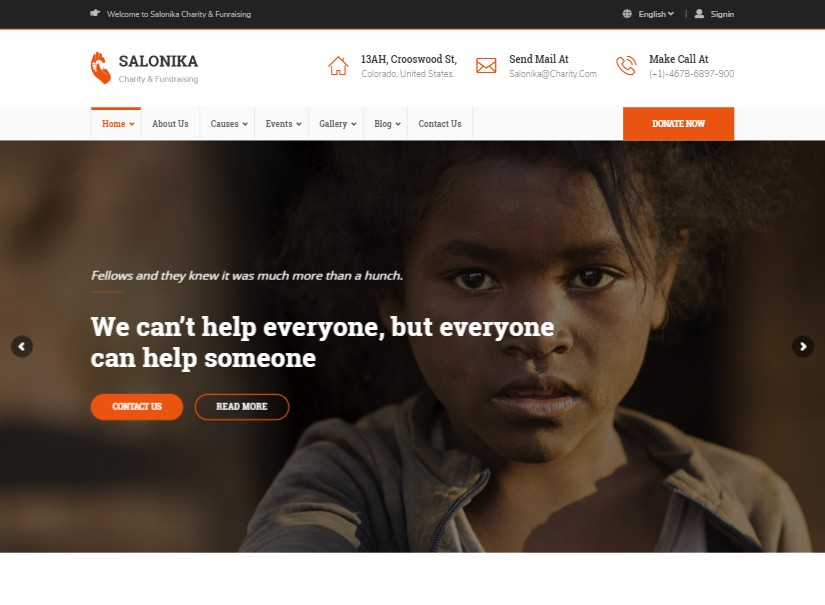 Salonika - nonprofit website templates