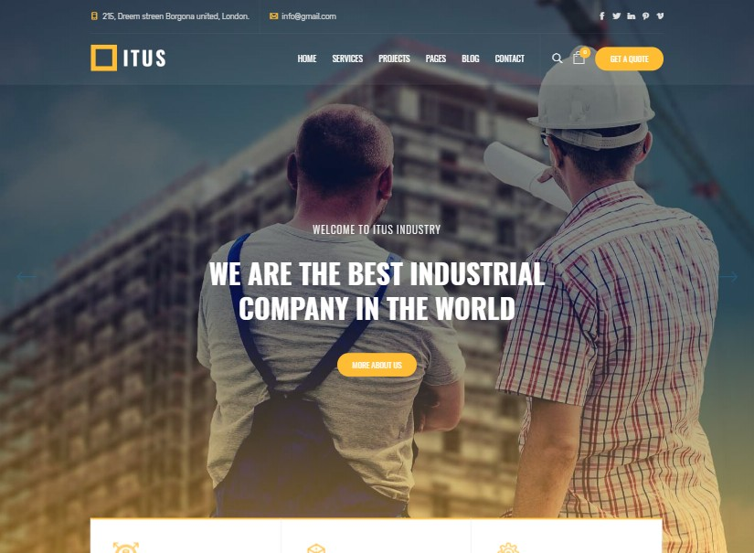 Itus - best industrial website template