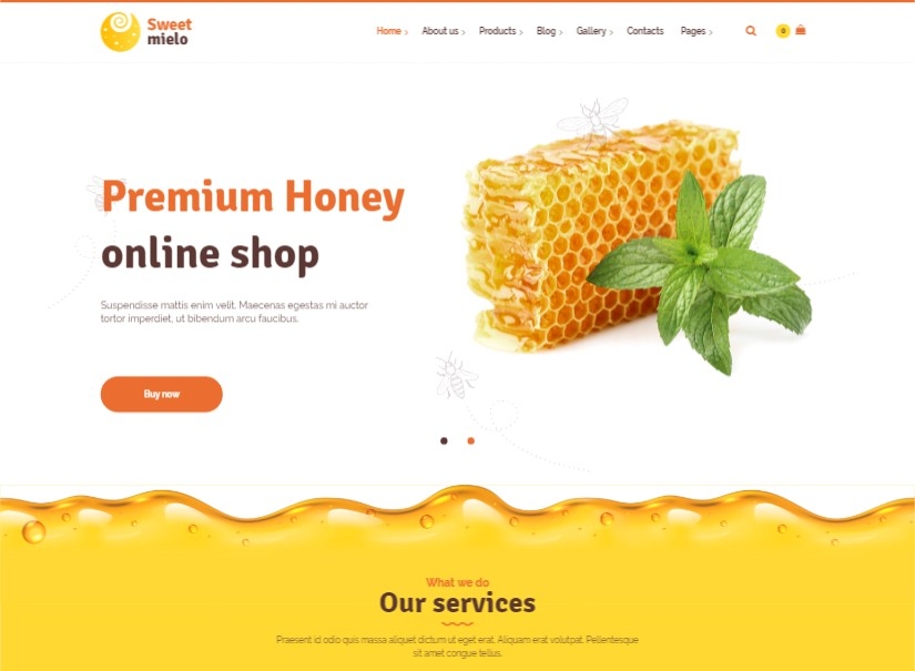 Sweet Mielo - Retail Latest Wordpress Theme