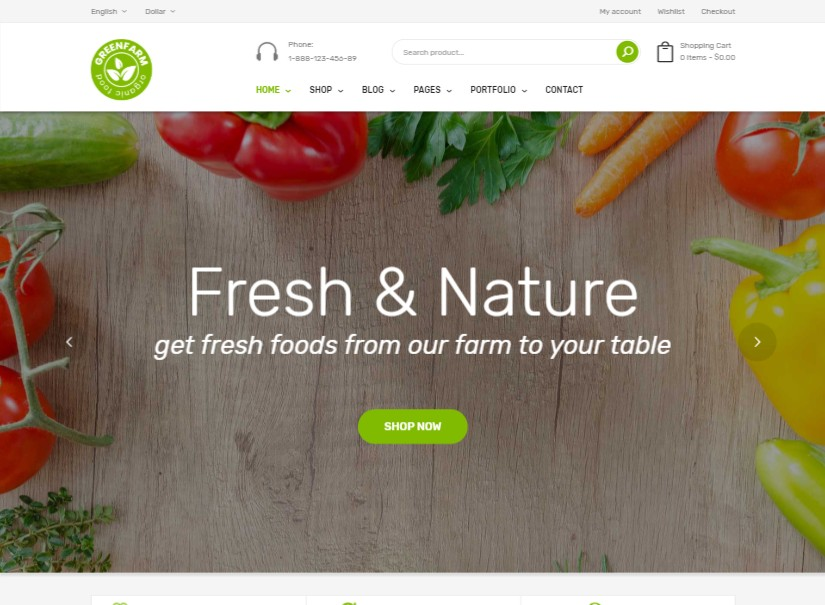 Greenfarm - latest ecommerce website