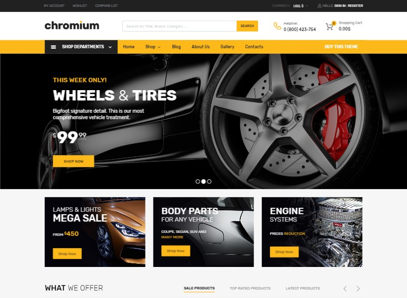 Chromium - best transport website template
