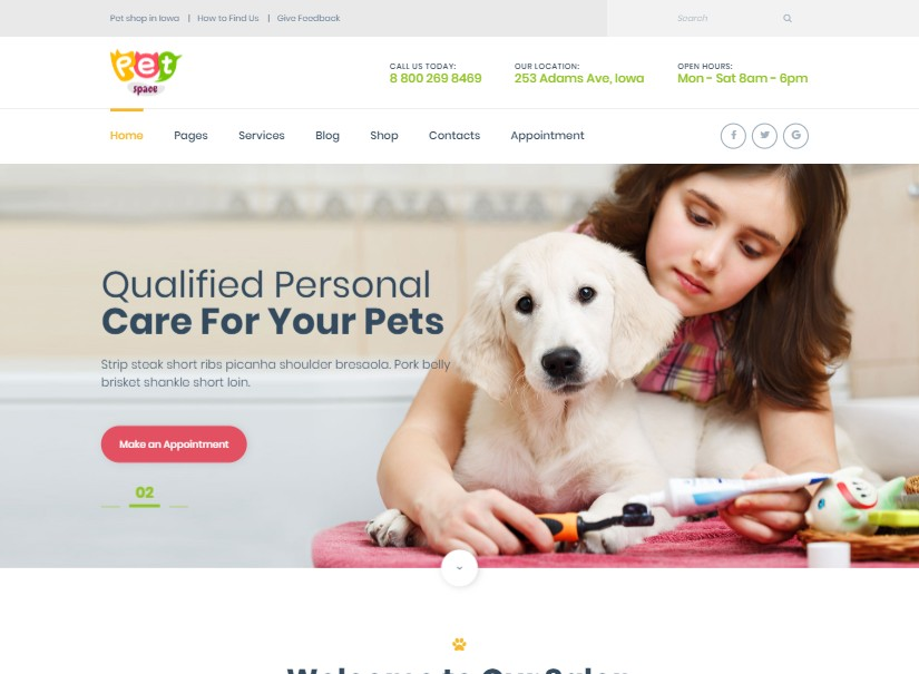 PetSpace - best animal website design
