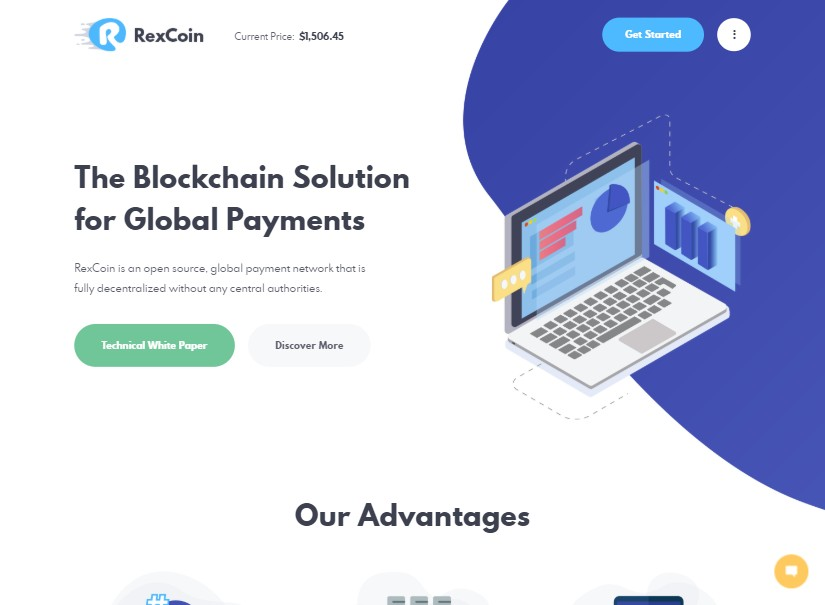 RexCoin - best technology website templates