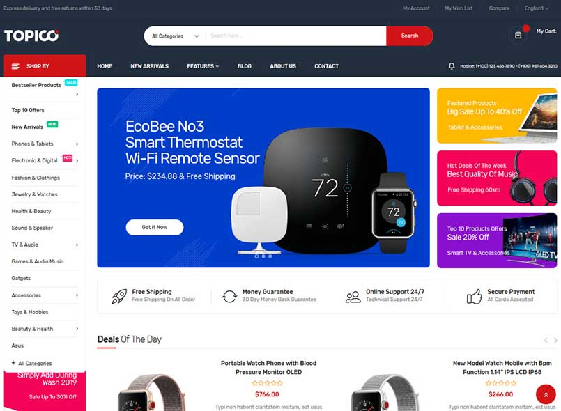 Topico - Best Responsive Magento 2 Theme