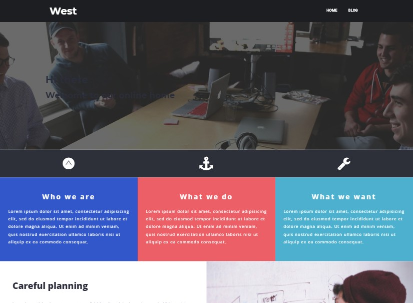 West - free website templates