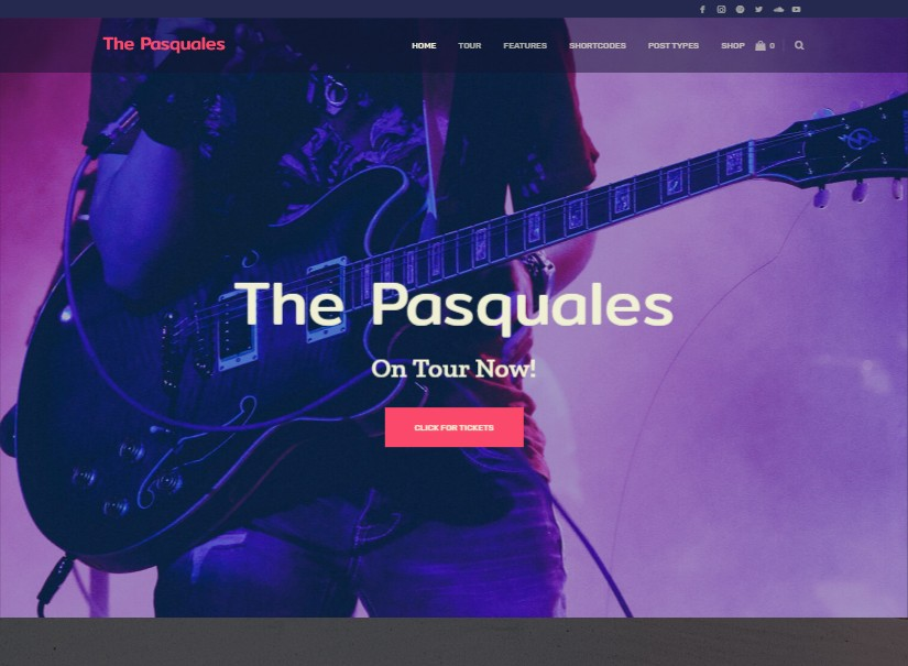 Pasquales - latest entertainment website design