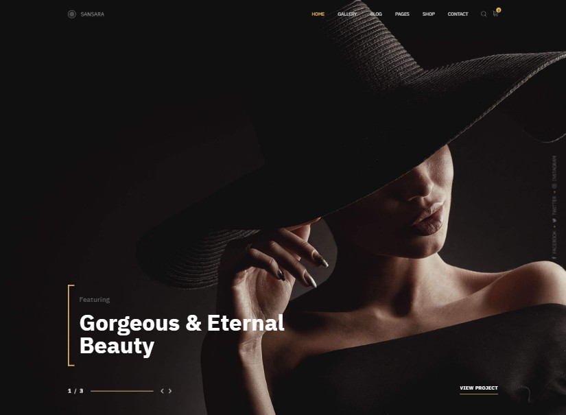 Sansara - latest photography website templates