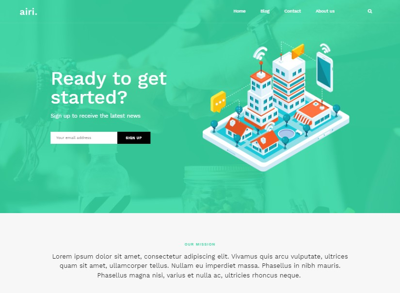 Atu - best free website templates