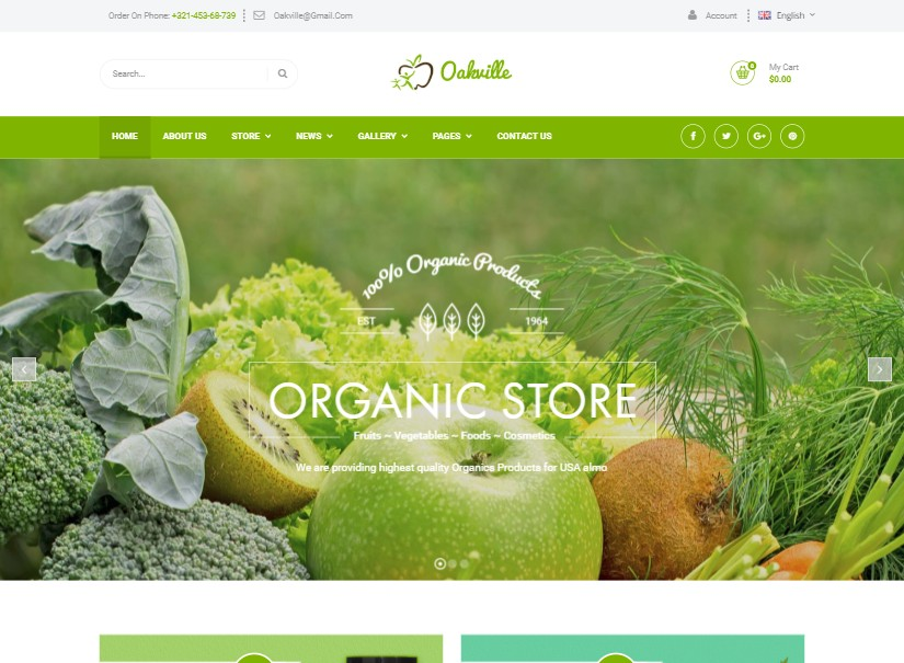 Oakville - best agriculture website template