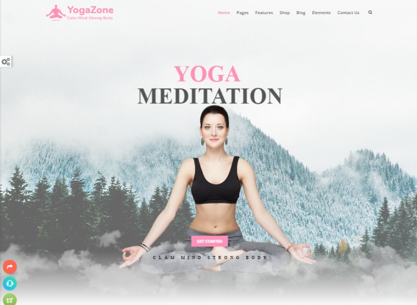 YogaZone - latest beauty website templates