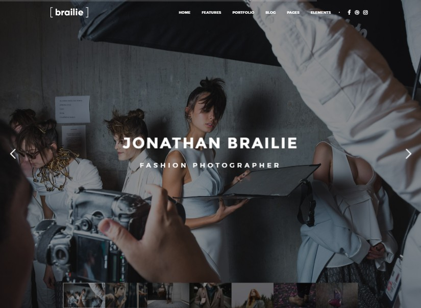 Brailie - best photography website templates