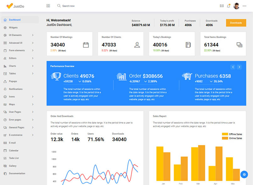 JustDo - Responsive Bootstrap Admin Template