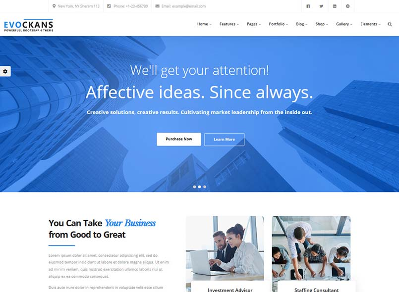Evockans - Multi-Purpose Business Drupal 8.7 Theme