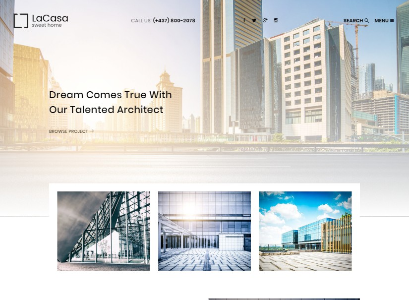 Lacasa - latest real estate website theme