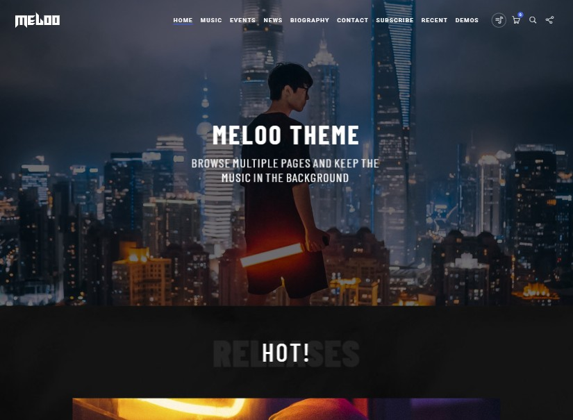 Meloo - entertainment website template