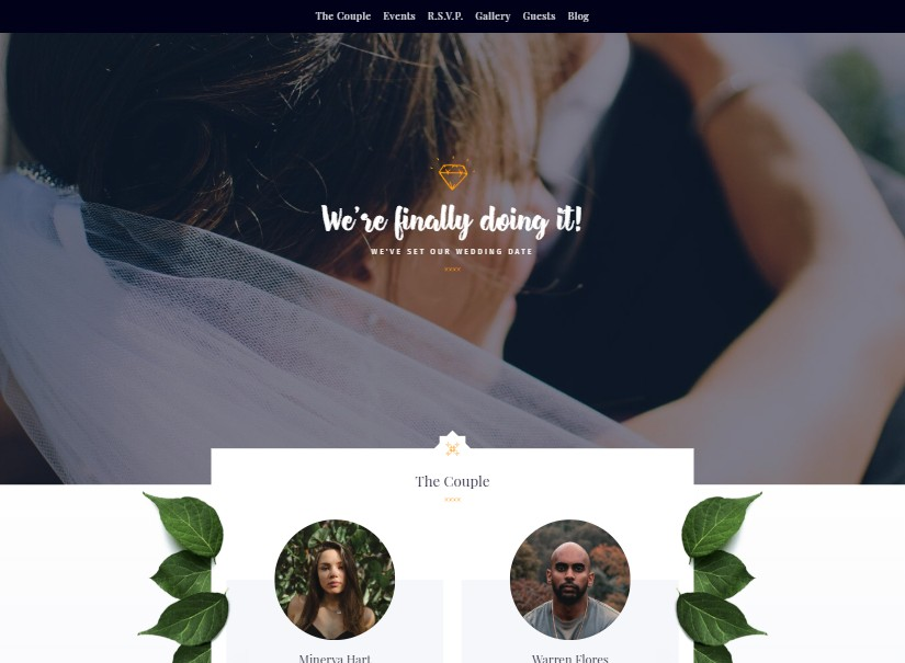 Elegant - best wedding website templates