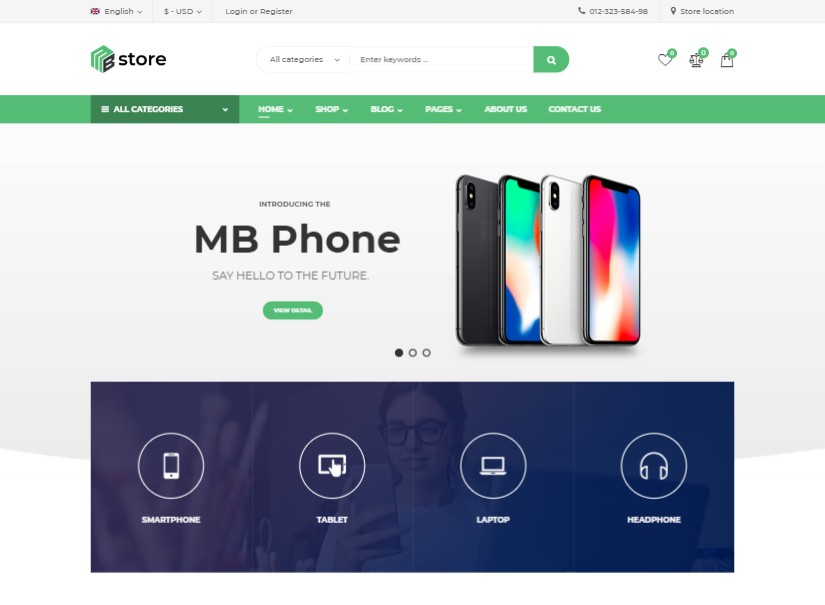 MBStore - latest ecommerce wordpress theme