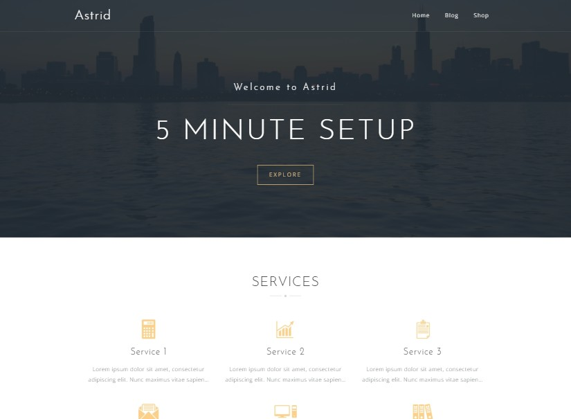 Astrid - free wordpress themes