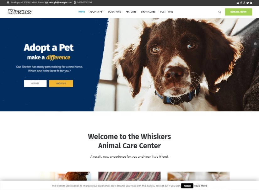 Whiskers - latest animal website templates
