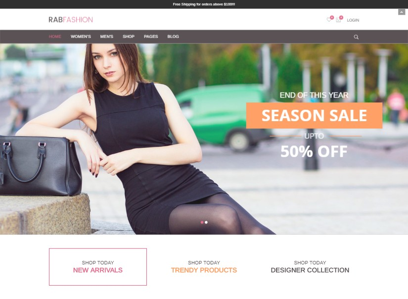 RAB - fashion website template
