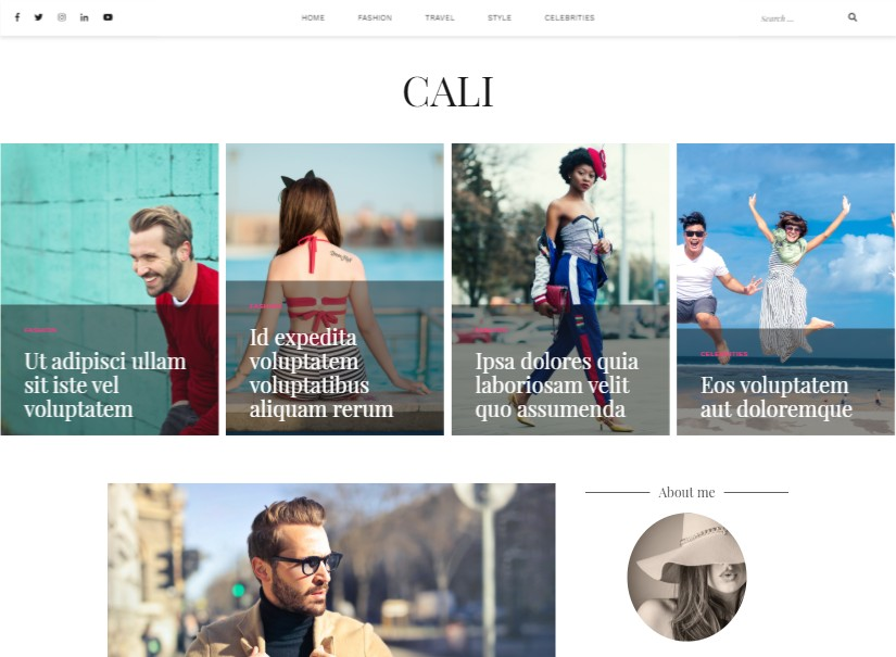 Cali - free wordpress themes
